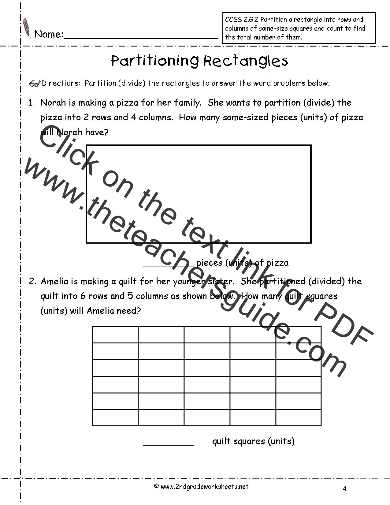 Year 3 Addition Worksheets Partitioning