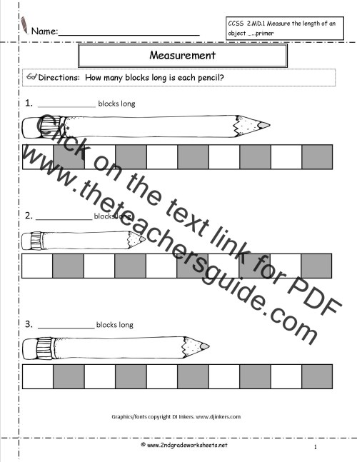 small resolution of CCSS 2.MD.1 Worksheets