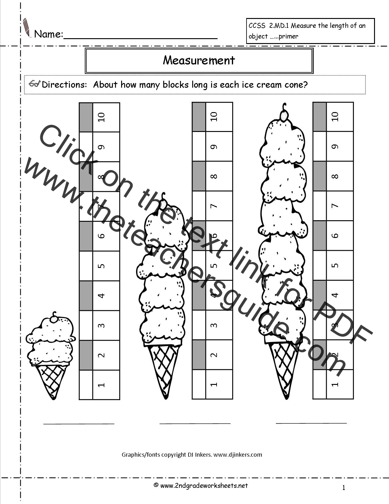 Ccss 2 1 Worksheets Measuring Worksheets