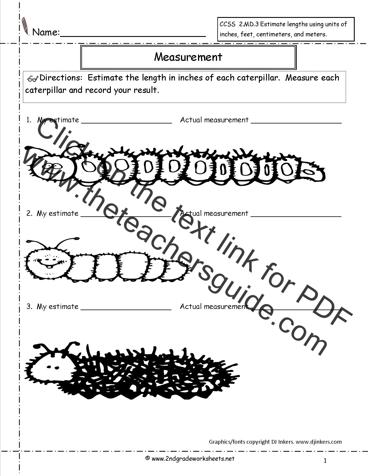 Worksheet Measuring In Inches Grass Fedjp Worksheet