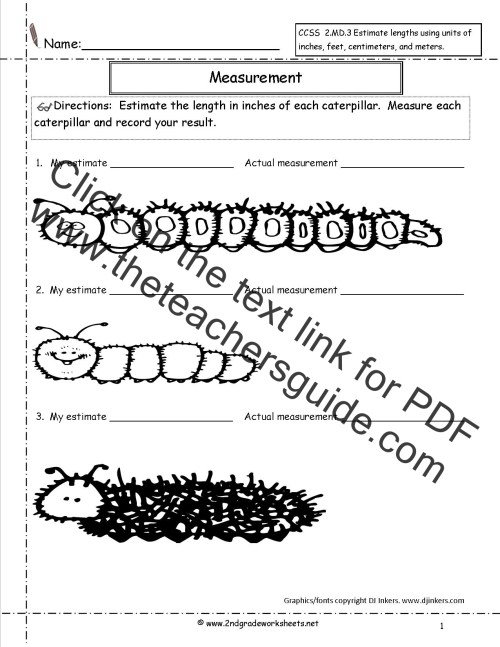 small resolution of 2nd Grade Math Common Core State Standards Worksheets