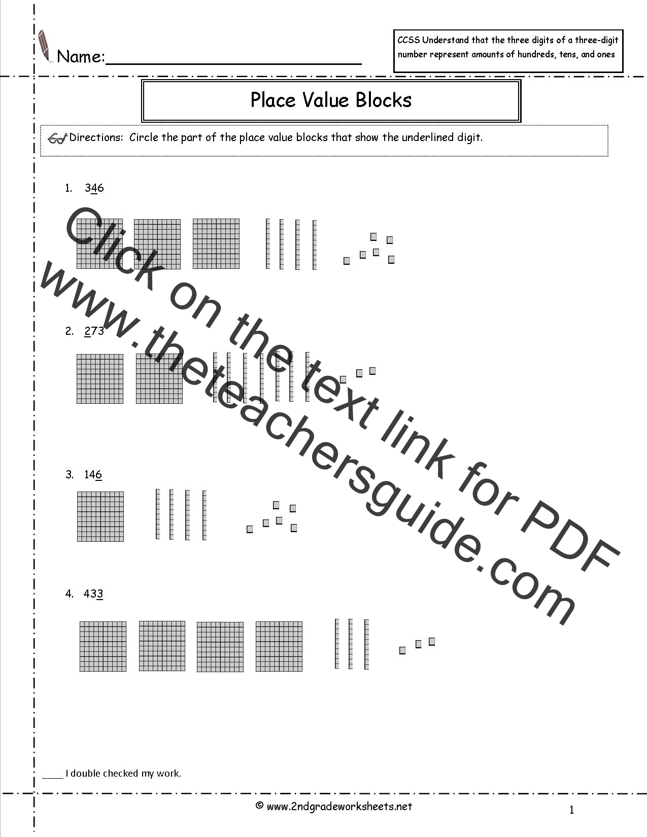 hight resolution of CCSS 2.NBT.1 Worksheets Place Value Worksheets.