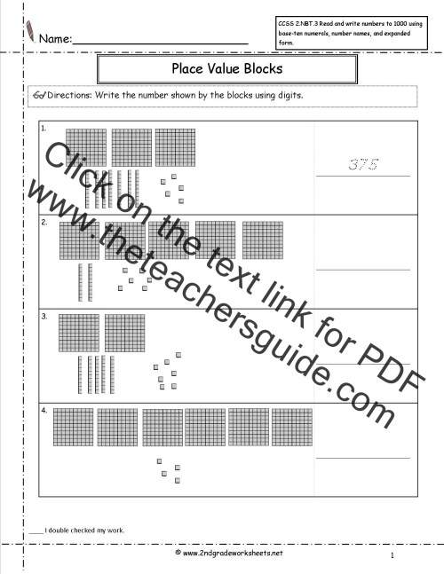 small resolution of CCSS 2.NBT.3 Worksheets. Place Value Worksheets-Read and Write Numbers