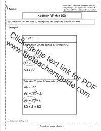 CCSS 2.NBT.5 Worksheets. Two Digit Addition and