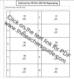 CCSS 2.NBT.5 Worksheets. Two Digit Addition and Subtraction Within 100  Worksheets. [ 1650 x 1275 Pixel ]