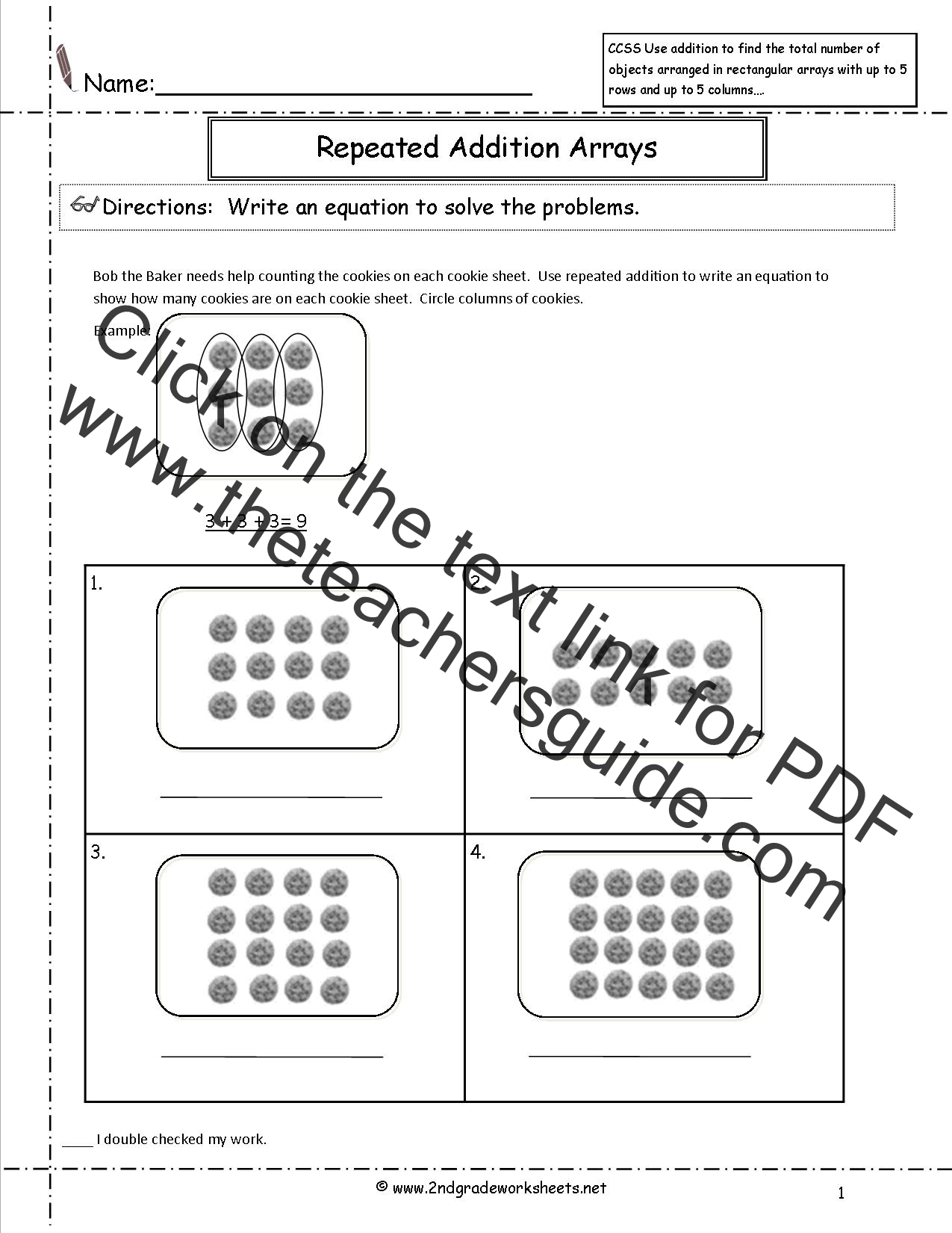 Sweet 5th Grade Common Core Standards Printable