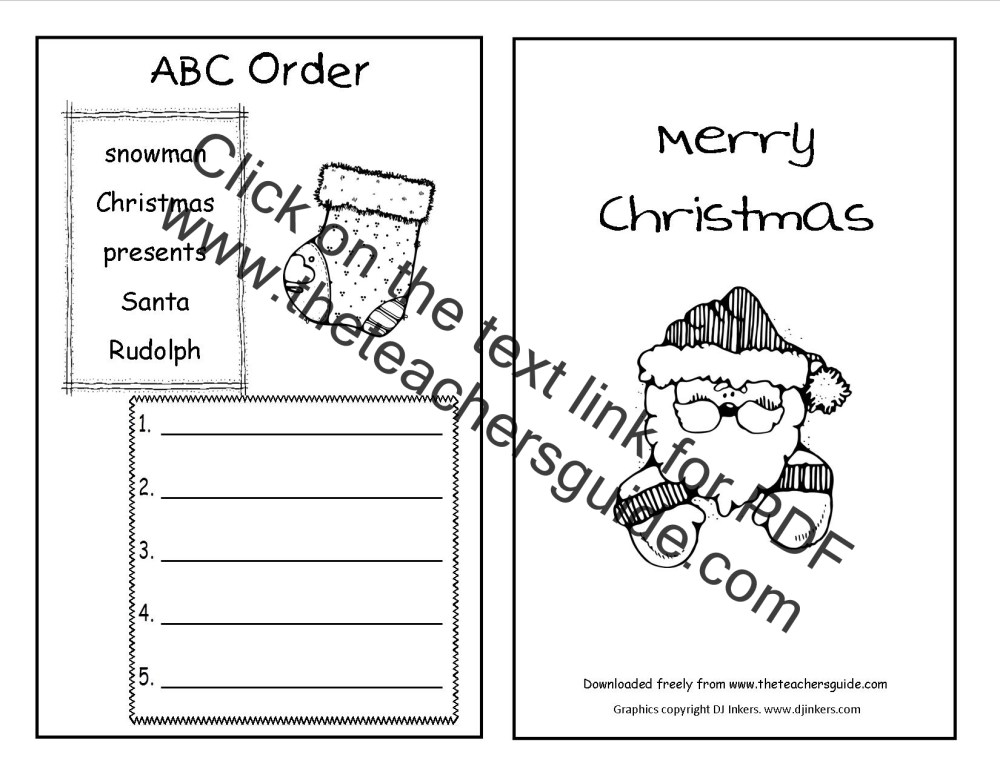 medium resolution of Christmas Worksheets and Printouts