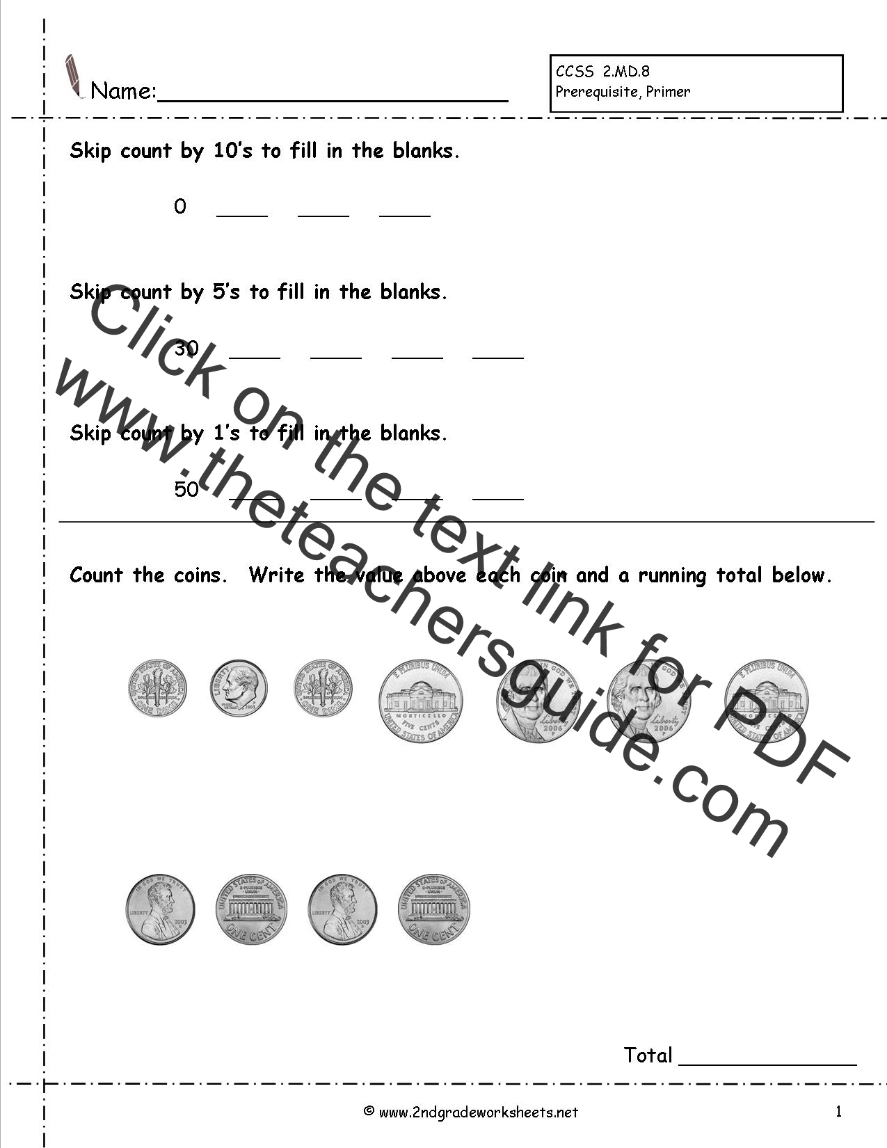 Ccss 2 8 Worksheets Counting Coins Worksheets Money Wordproblems Worksheets