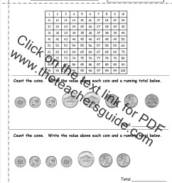 Counting Coins and Money Worksheets and Printouts [ 1650 x 1275 Pixel ]