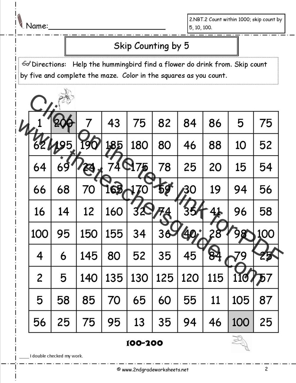 medium resolution of Free Skip Counting Worksheets
