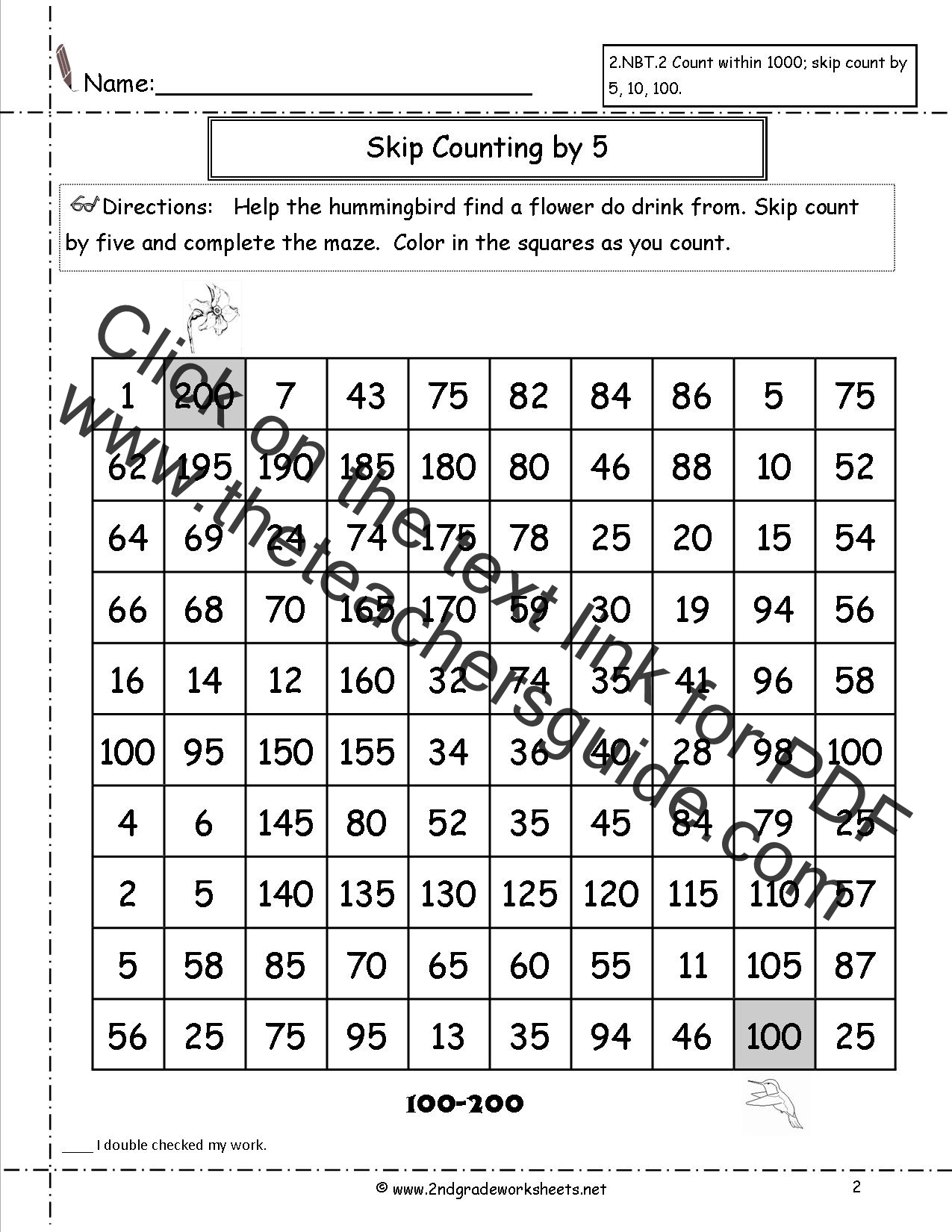 hight resolution of Free Skip Counting Worksheets