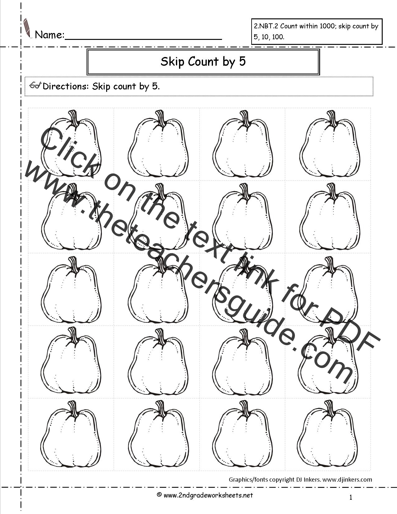 Pumpkin Math Worksheet Kindergarten