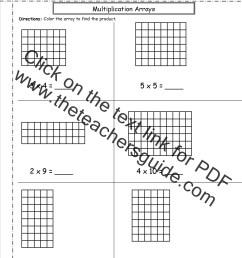 Multiplication Arrays Worksheets [ 1650 x 1275 Pixel ]