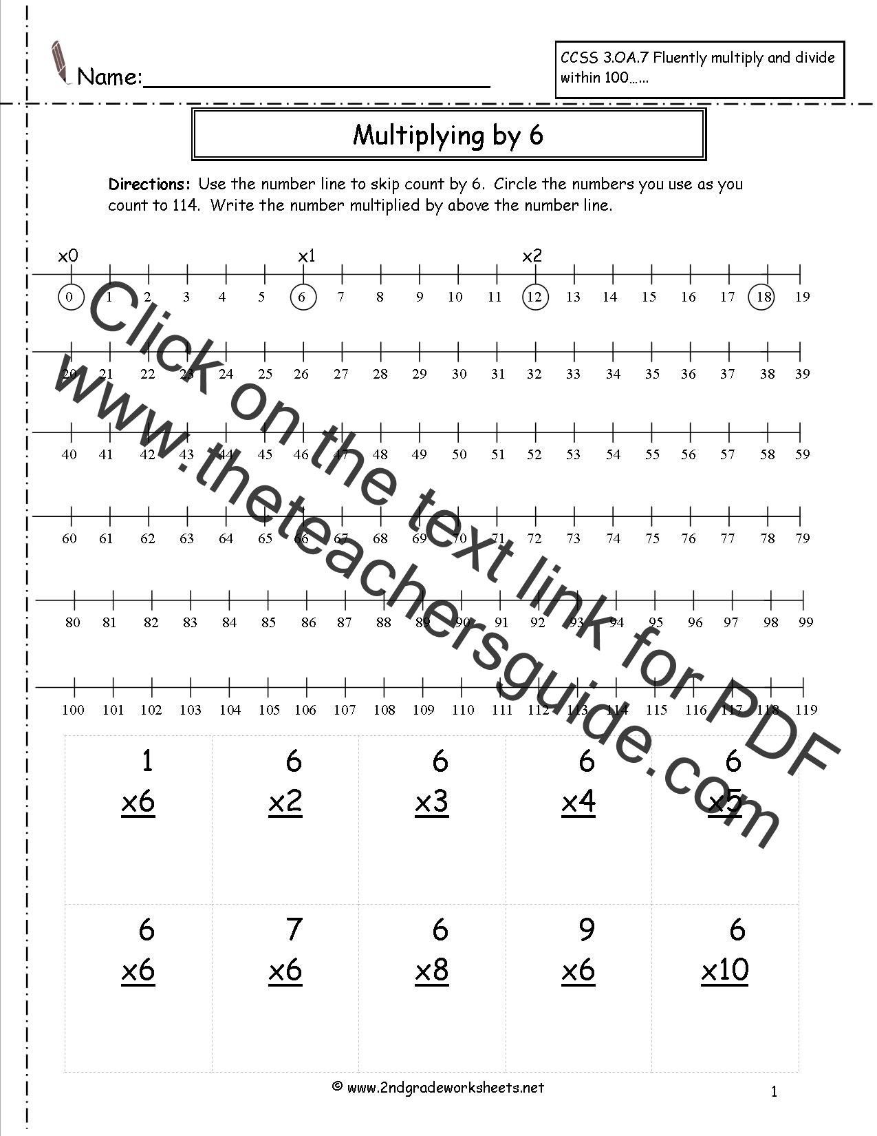 4 Grade Worksheet Multiplication 100