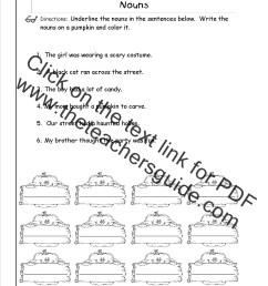 Nouns Worksheets and Printouts [ 1650 x 1275 Pixel ]