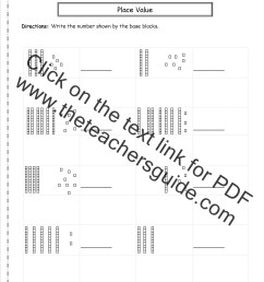 Second Grade Place Value Worksheets [ 1650 x 1275 Pixel ]