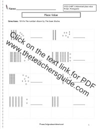 Base Ten Block Worksheets | New Calendar Template Site