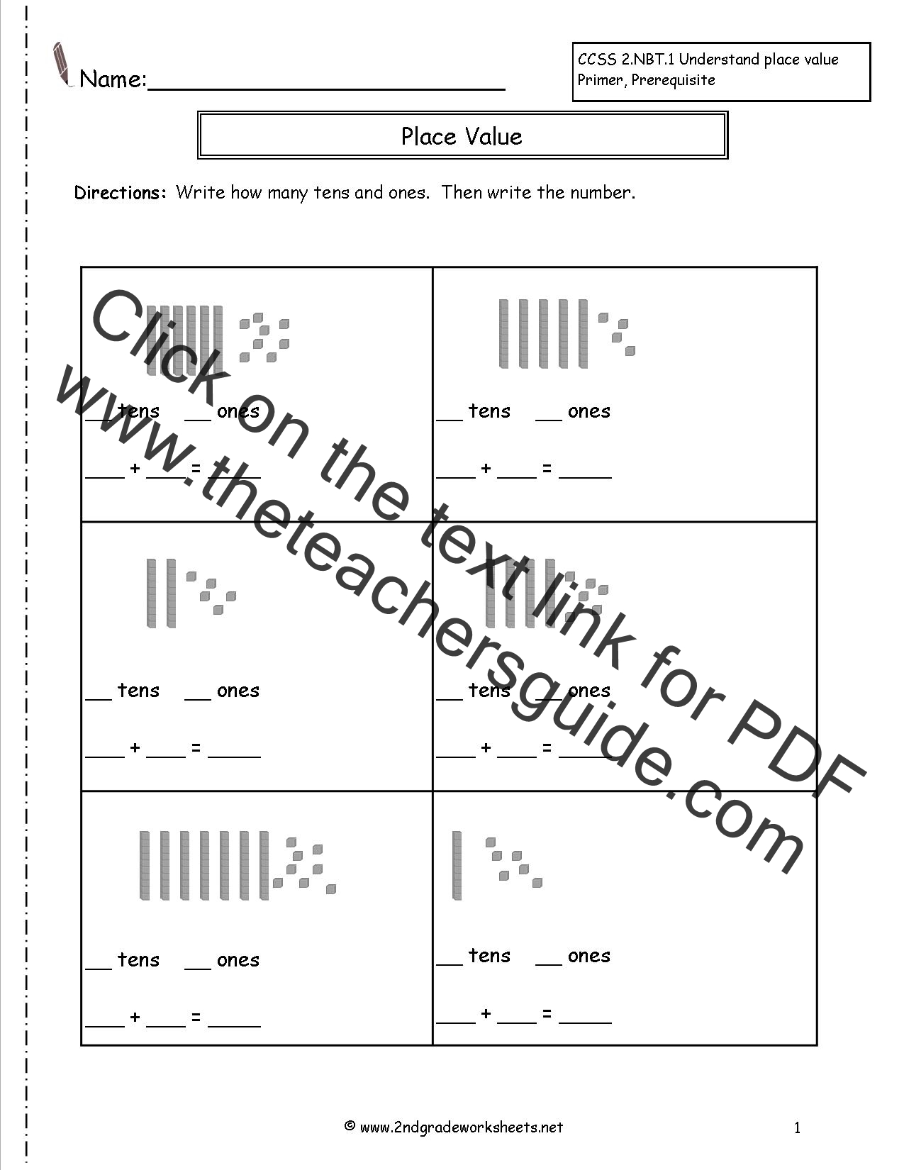 Printables Of Place Value Printables