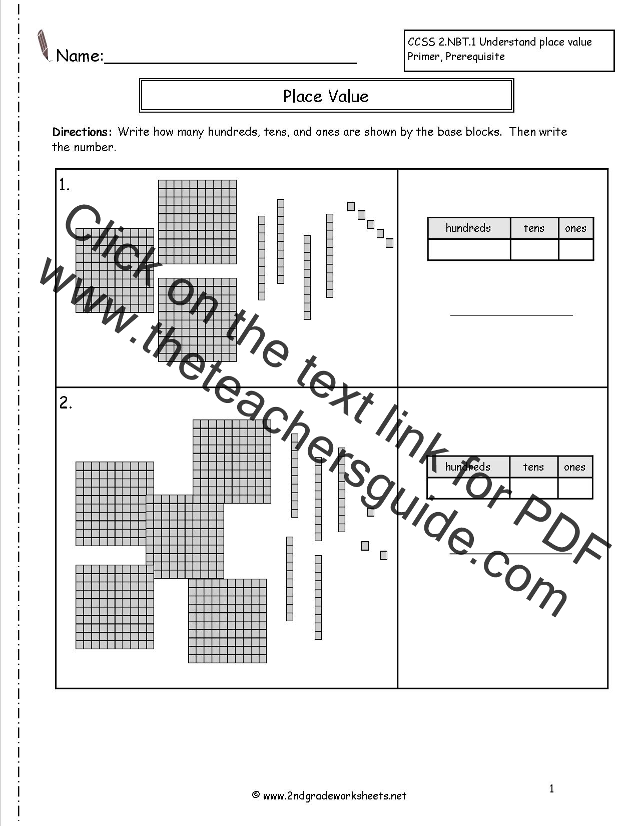 hight resolution of Second Grade Place Value Worksheets
