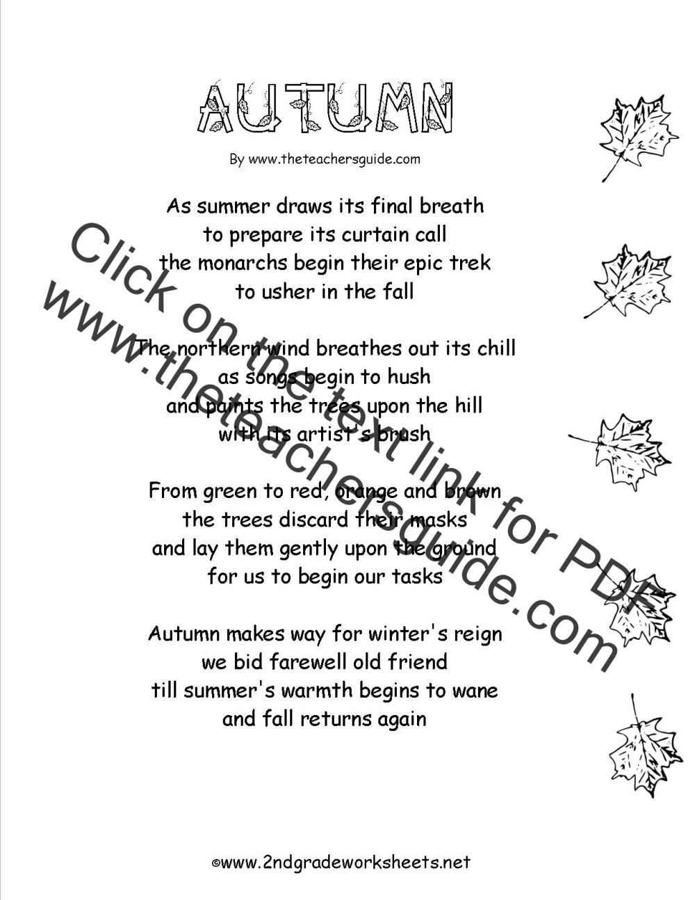 medium resolution of Poem Comprehension Worksheets