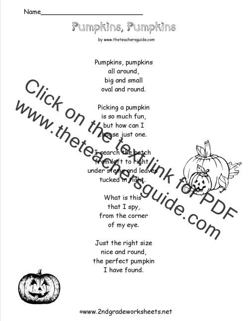 small resolution of Poem Comprehension Worksheets