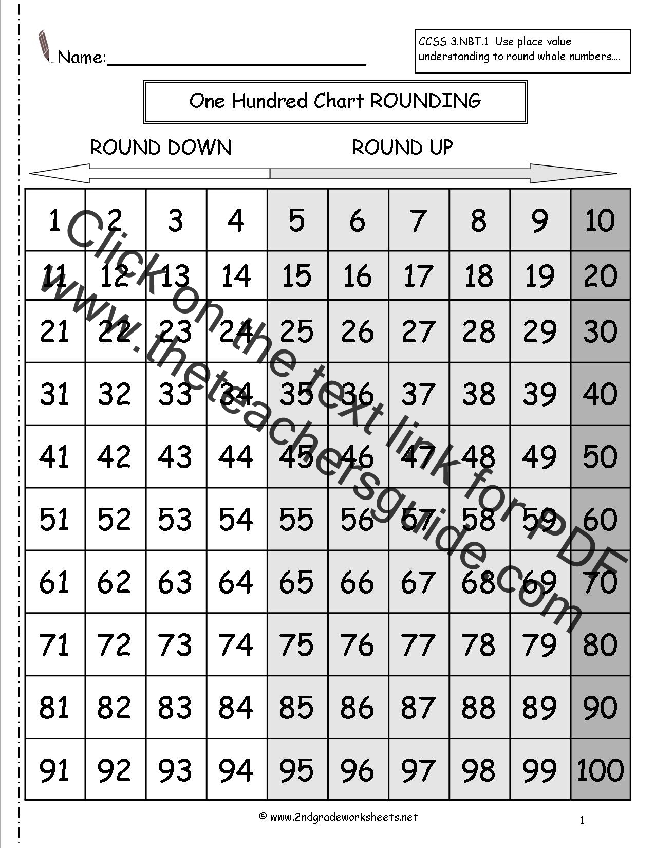 2nd Grade Rounding Worksheets