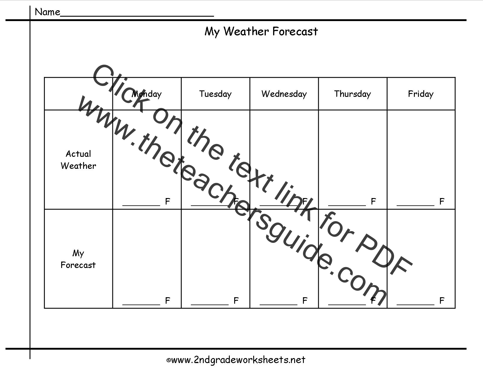 30 Forecasting The Weather Worksheet