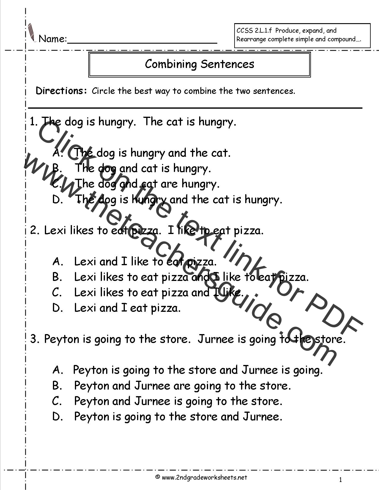 Reading Simple Sentences Worksheets