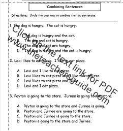 Second Grade Sentences Worksheets [ 1650 x 1275 Pixel ]
