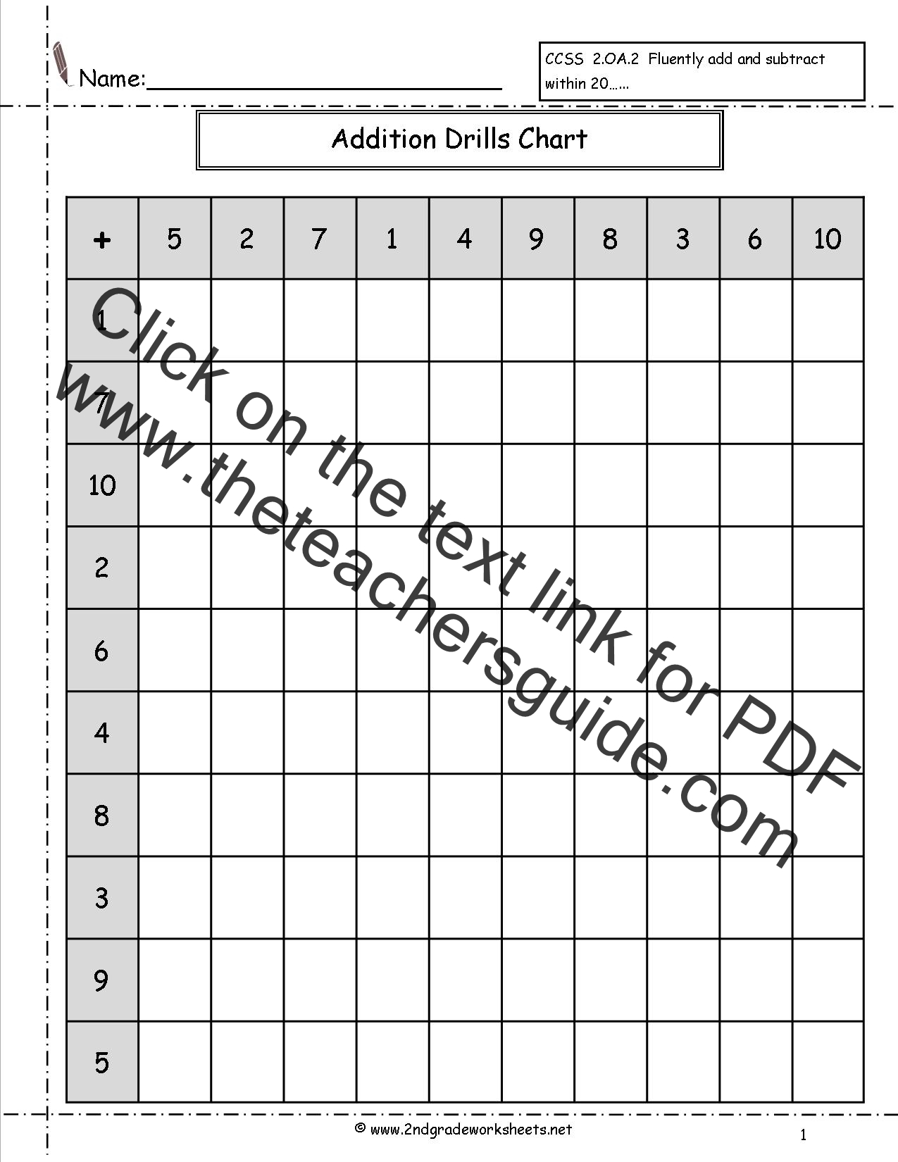 Made by Teachers: Free Timed Math Drills