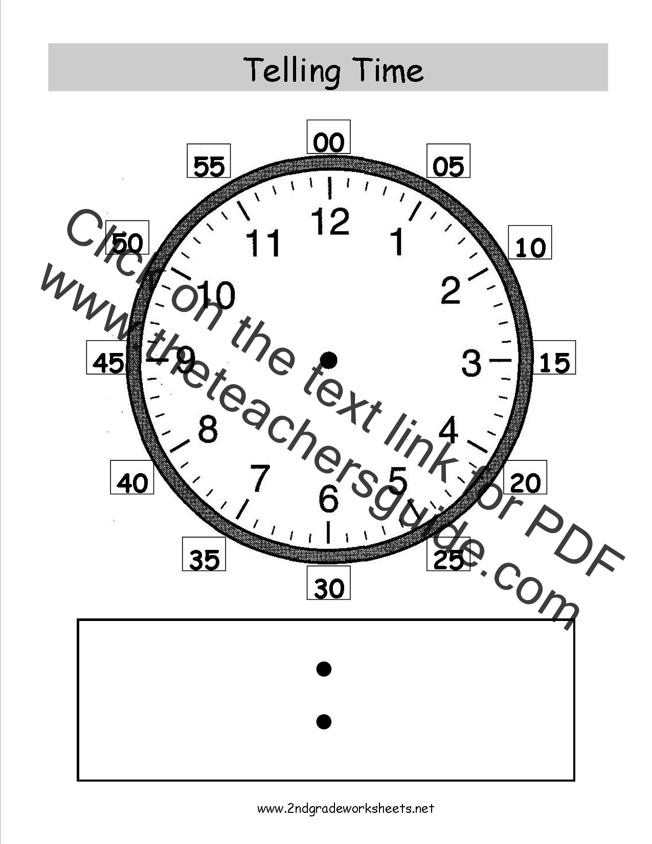 hight resolution of Telling and Writing Time Worksheets