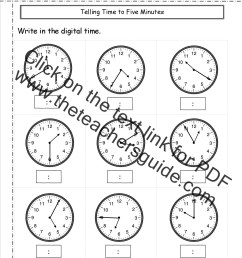 Telling and Writing Time Worksheets [ 1650 x 1275 Pixel ]
