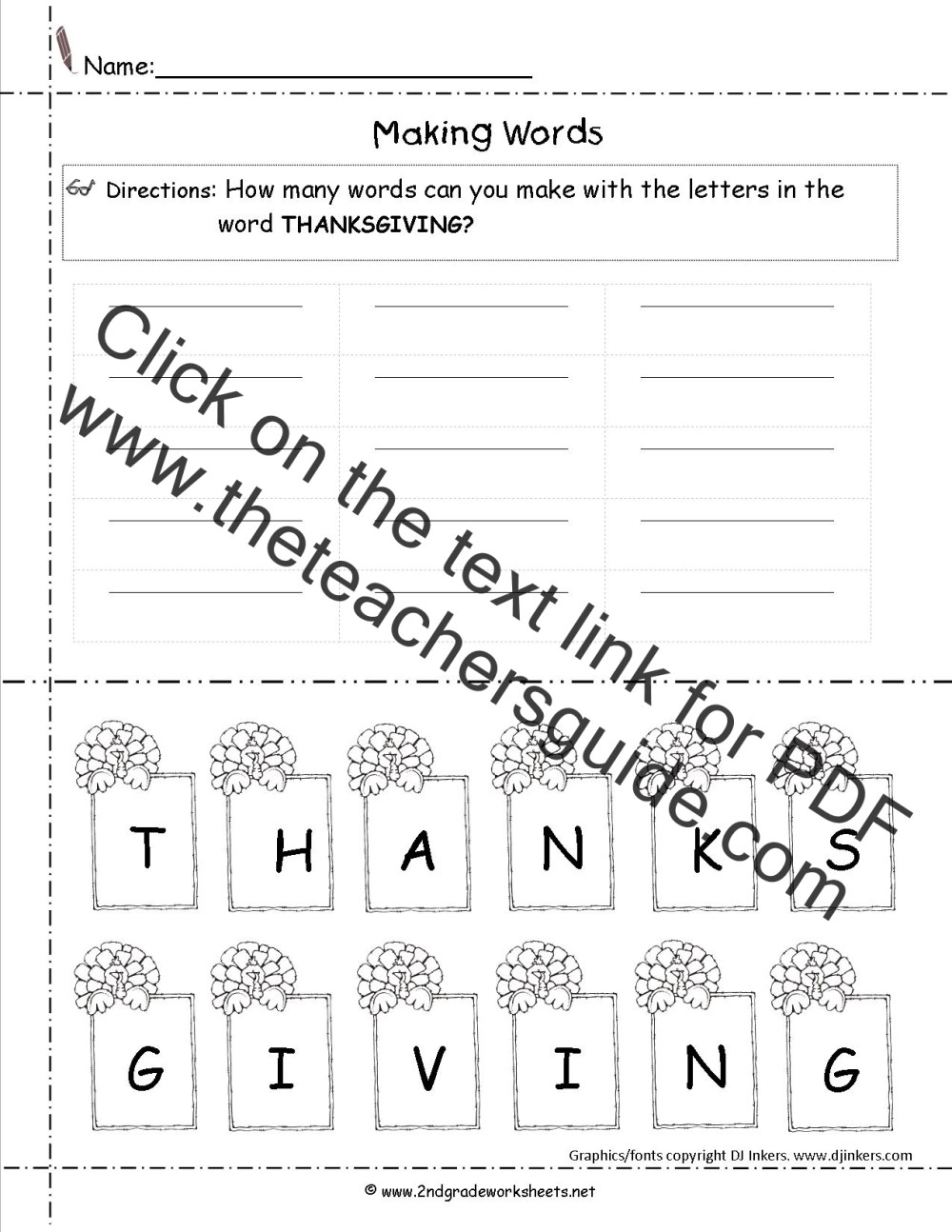 medium resolution of Thanksgiving Printouts and Worksheets