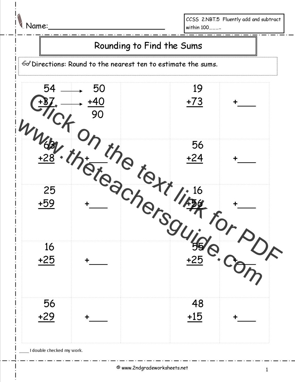 medium resolution of Two Digit Addition Worksheets