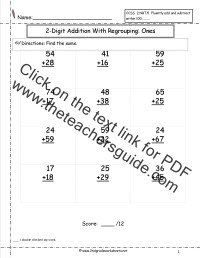 2 Digit Addition With Regrouping Worksheets 2nd Grade ...