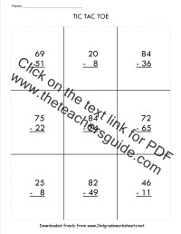 Free Math Worksheets For Regrouping Subtraction. Free ...