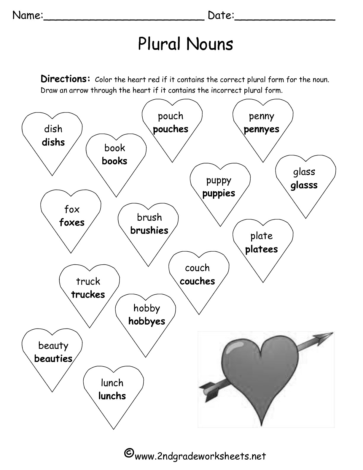 Free Valentine S Day Math Worksheets 2nd Grade Free Best