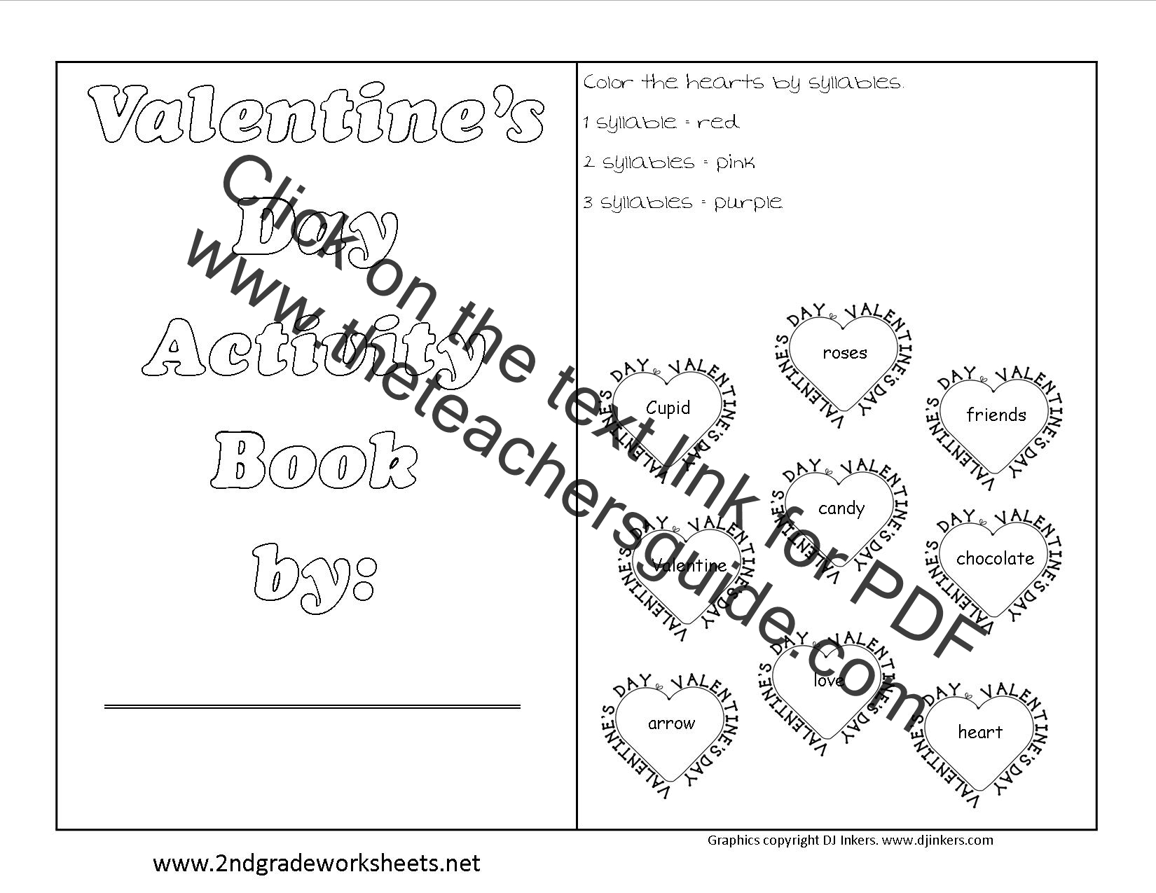 Printables Of Valentine S Day Worksheet Activities