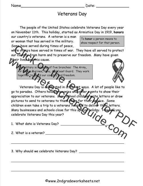 small resolution of Veterans Day Worksheets