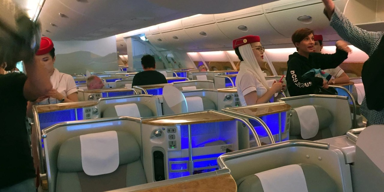 Emirates A380 Business Class – Sydney to Bangkok