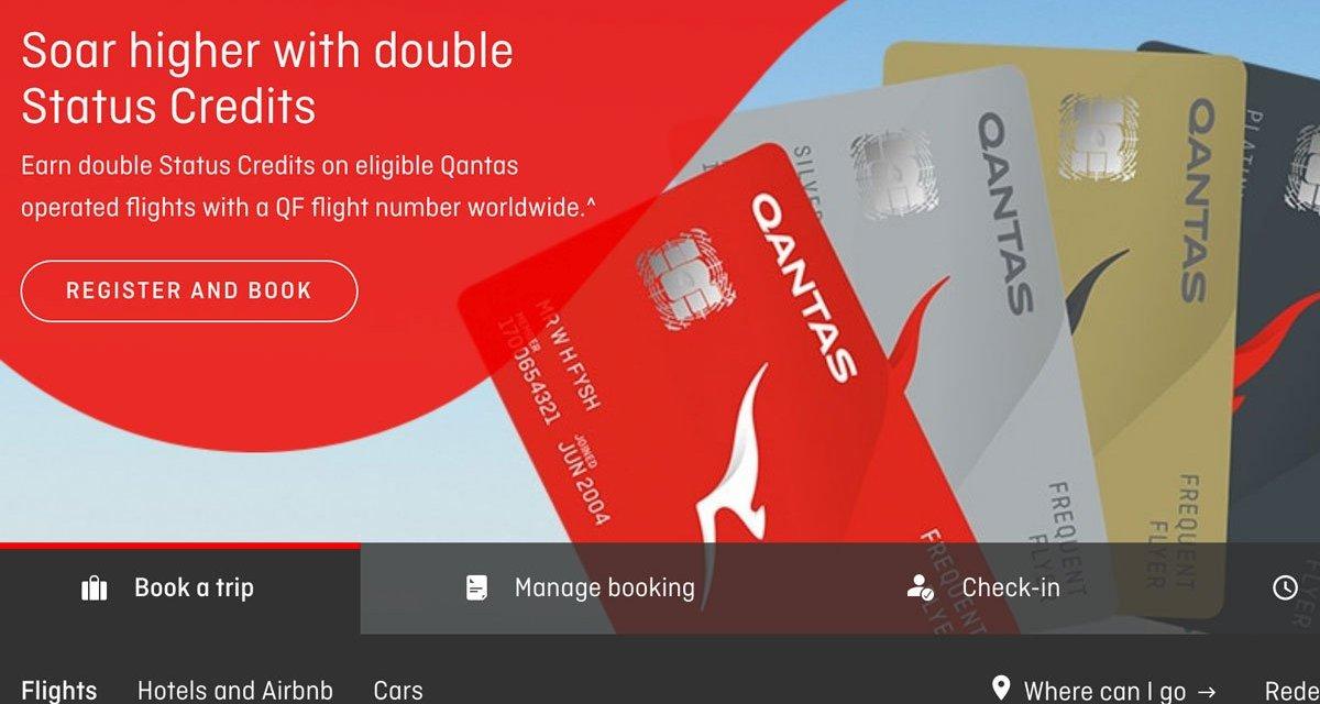 Double Trouble – Qantas double status credits 2019