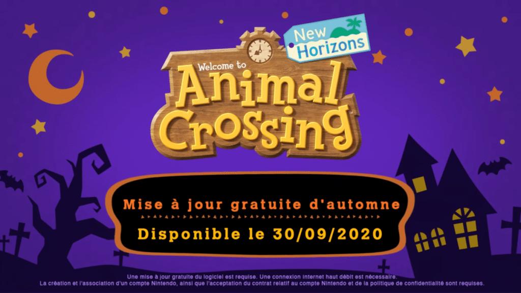 Mise à jour d'automne à Animal Crossing: New Horizons