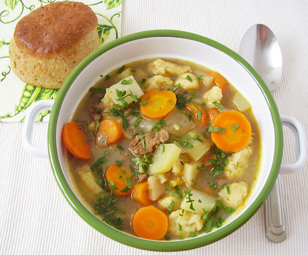 Grandmother's Soup (Eingemachtes) - Retro revitalizing soup full of vegetables. One of grandmother's finest.
