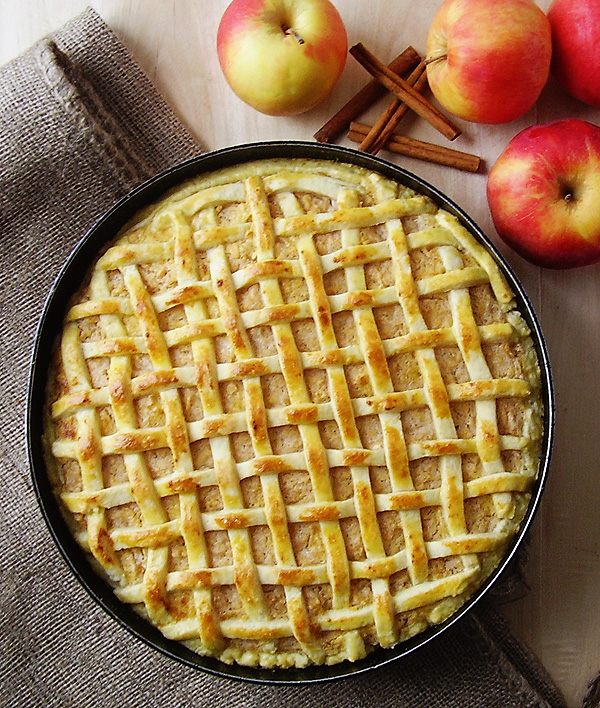 Lattice Apple Pie prepared this way is an all time classic. Sour cream adds a special flavor. Perfection at it's peak !