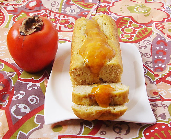 Persimmon Cheese Loaf is perfect breakfast dish to have with a cup of coffee or tea; works well as a dessert.