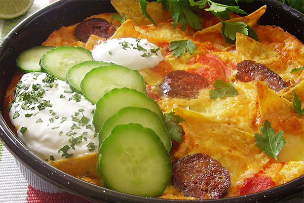 Easy Chilaquilles Frittata Bake : Popular Mexican treat, so easy to make !