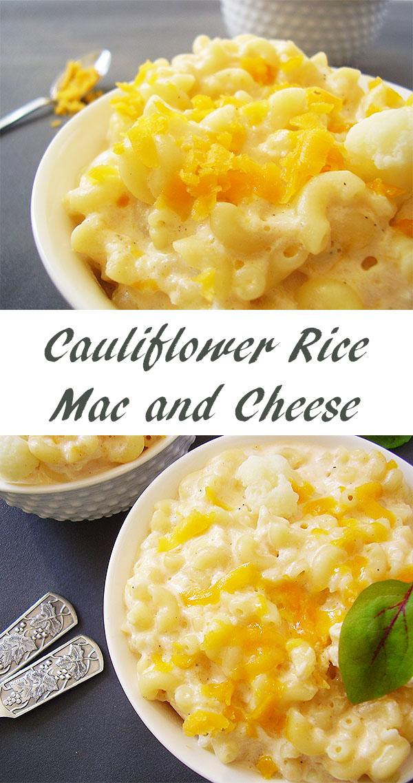 Cauliflower Rice Mac and Cheese: Cauliflower packed Mac & Cheese !