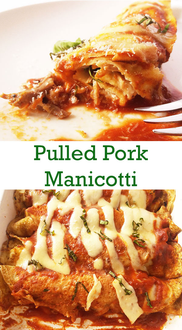 Pulled Pork Manicotti: Irresistible fusion of Italian and American !