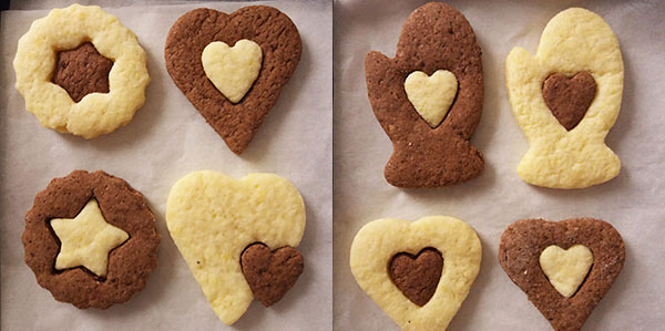 Simple Two Colour Cookies : attractive and simple to make !