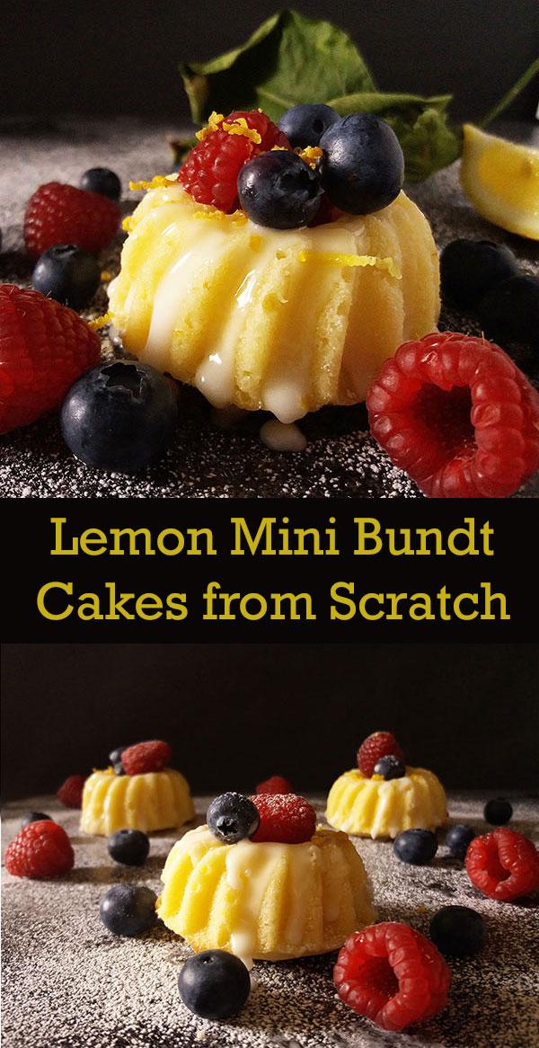 Lemon Mini Bundt Cakes from Scratch : every season's favourite !